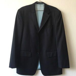 Nautica 3 button navy blue pinstripe suit